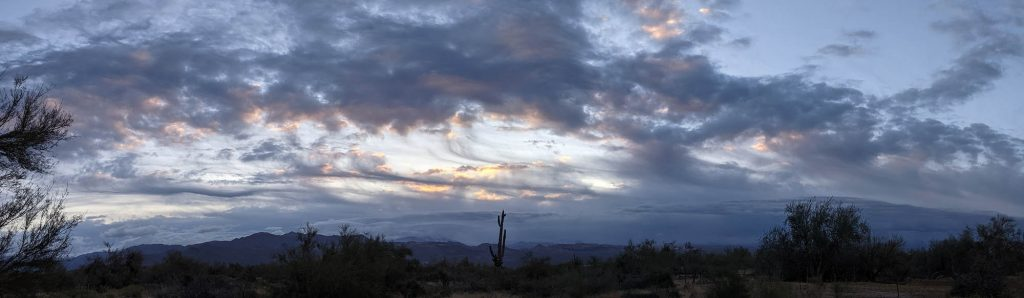 Clouds Parting on the Four Peaks, March 16, 2021