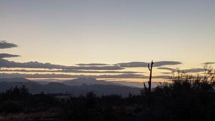 Rio Verde Sunrise, January 20, 2021