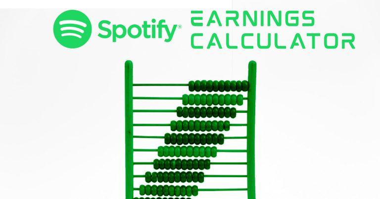 Spotify earnings calculator